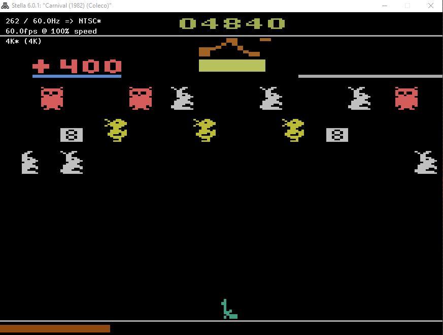 nads: Carnival (Atari 2600 Emulated Novice/B Mode) 1,004,840 points on 2021-02-09 13:18:55