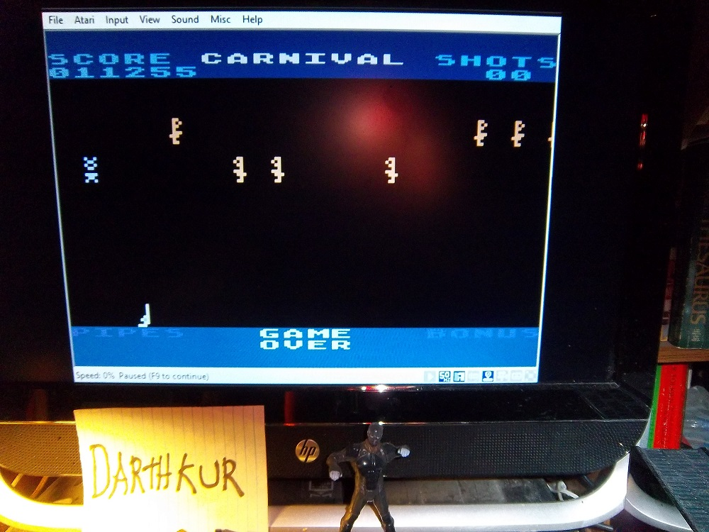 darthkur: Carnival (Atari 400/800/XL/XE Emulated) 11,255 points on 2016-04-24 07:47:58