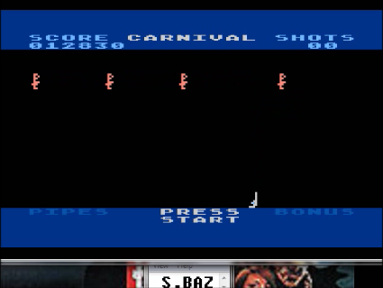 S.BAZ: Carnival (Atari 400/800/XL/XE Emulated) 12,830 points on 2016-05-16 01:37:08