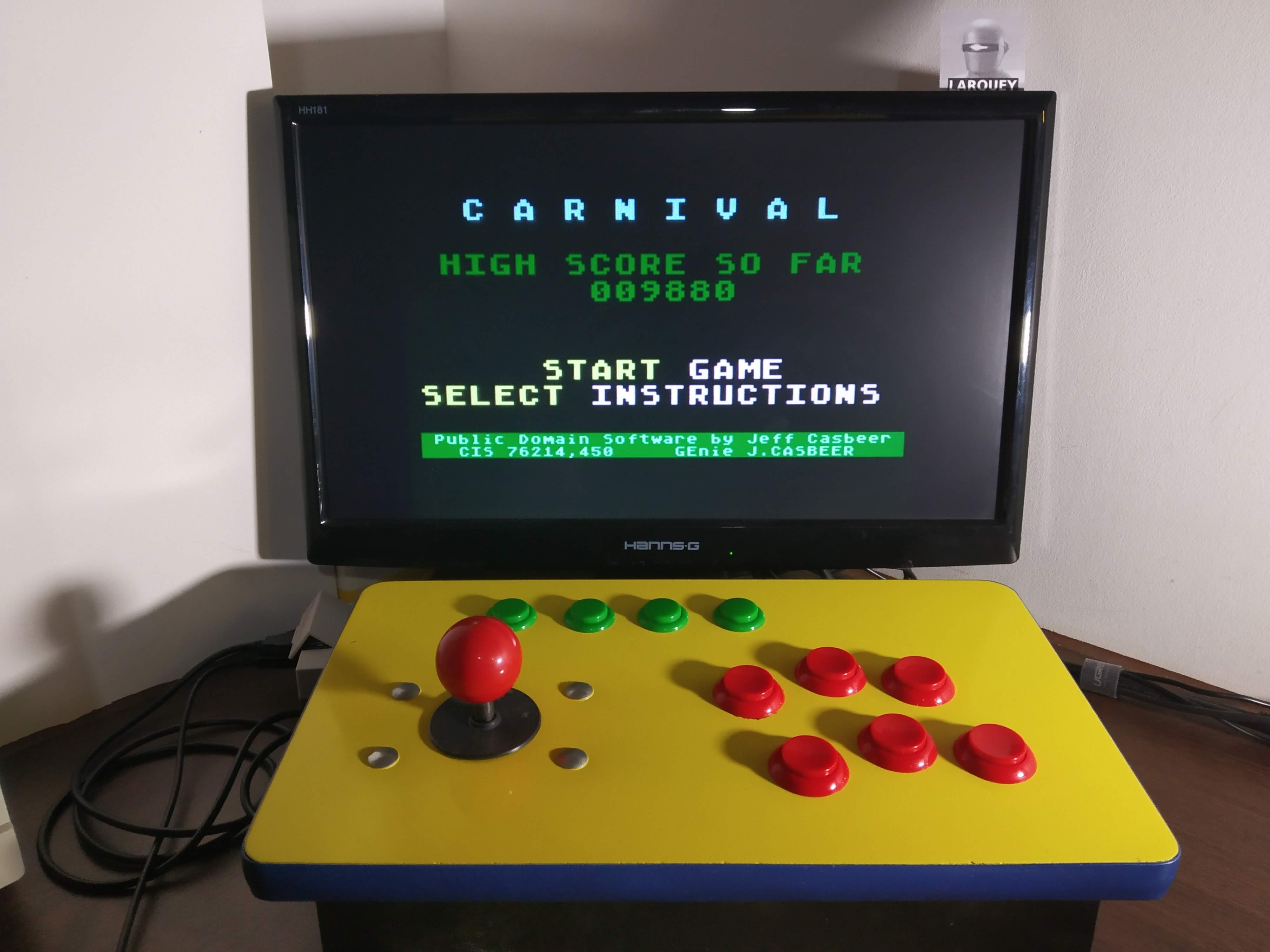 Larquey: Carnival (Atari 400/800/XL/XE Emulated) 9,880 points on 2020-01-01 09:49:44