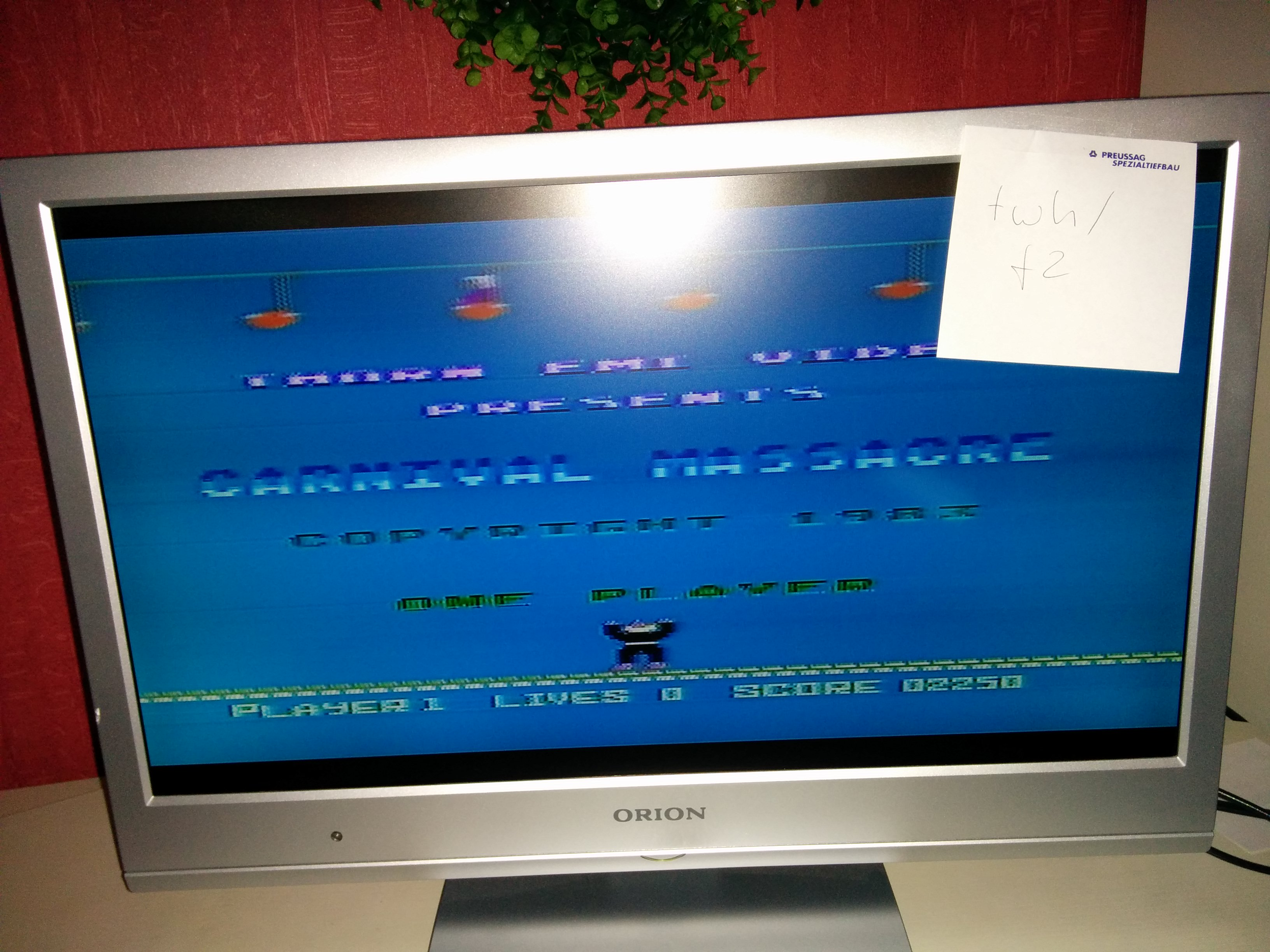 twhf2: Carnival Massacre (Atari 400/800/XL/XE) 2,250 points on 2015-11-02 11:44:09