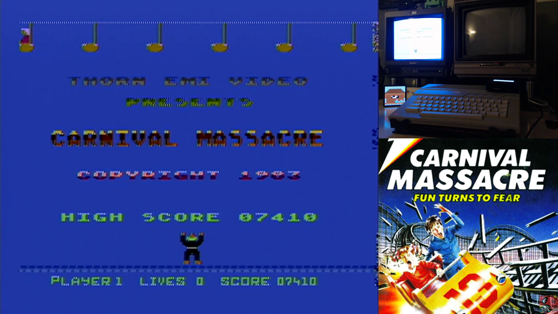 ILLSeaBass: Carnival Massacre (Atari 400/800/XL/XE) 7,410 points on 2020-07-23 23:56:18