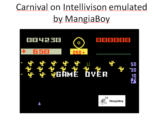 MangiaBoy: Carnival: Skill 1 (Intellivision Emulated) 4,230 points on 2016-01-03 10:11:16