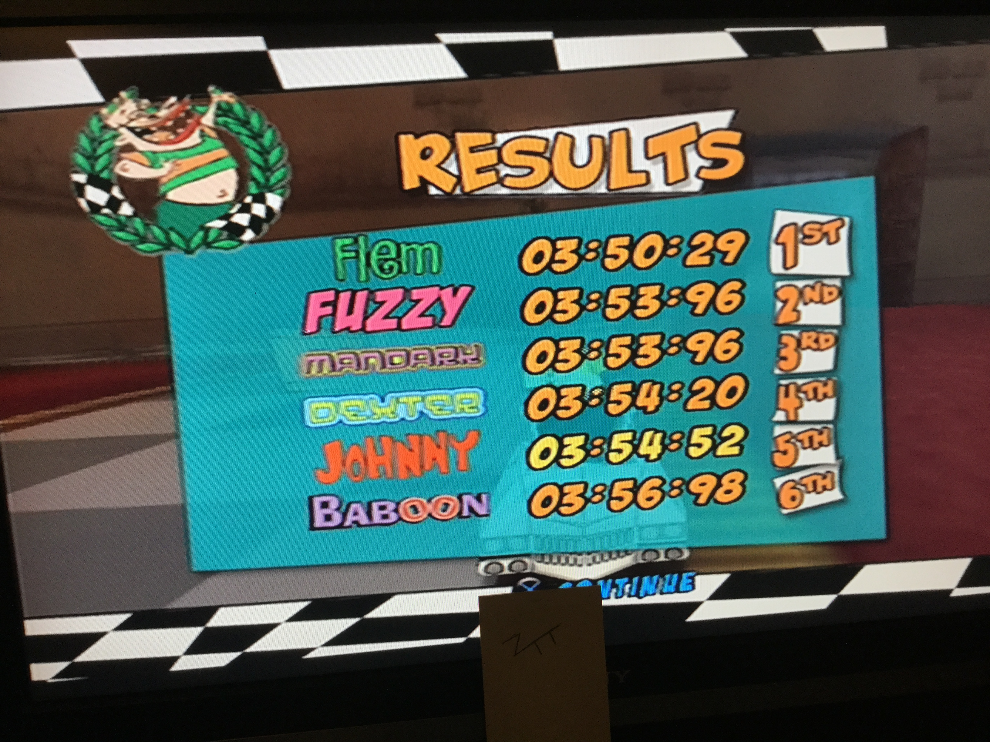 Frankie: Cartoon Network Racing: Quick Race: The Haunted Mansion [3 Laps] (Playstation 2) 0:03:54.52 points on 2019-08-04 03:47:58