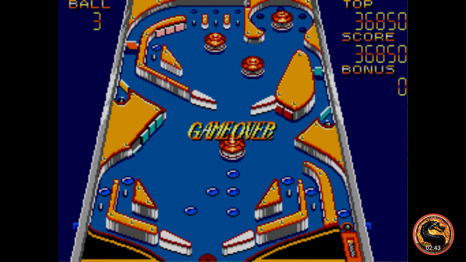 Casino Games: Pinball [Middle] 36,850 points