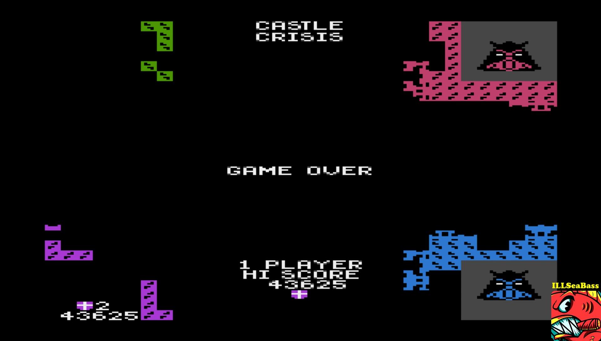 ILLSeaBass: Castle Crisis (Atari 400/800/XL/XE Emulated) 43,625 points on 2017-06-07 22:22:01