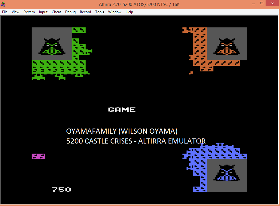 oyamafamily: Castle Crisis (Atari 5200 Emulated) 750 points on 2017-04-21 12:19:21
