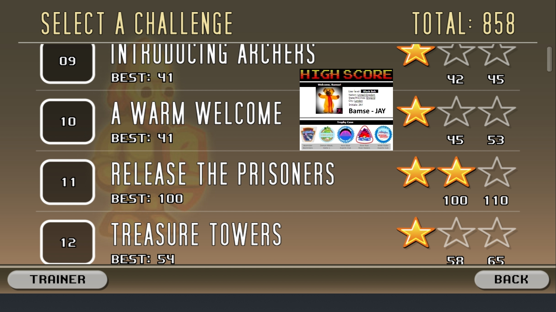 Bamse: Castle Smasher: Challenges: 09 Introducing Archers (Android) 41 points on 2019-08-21 17:11:22