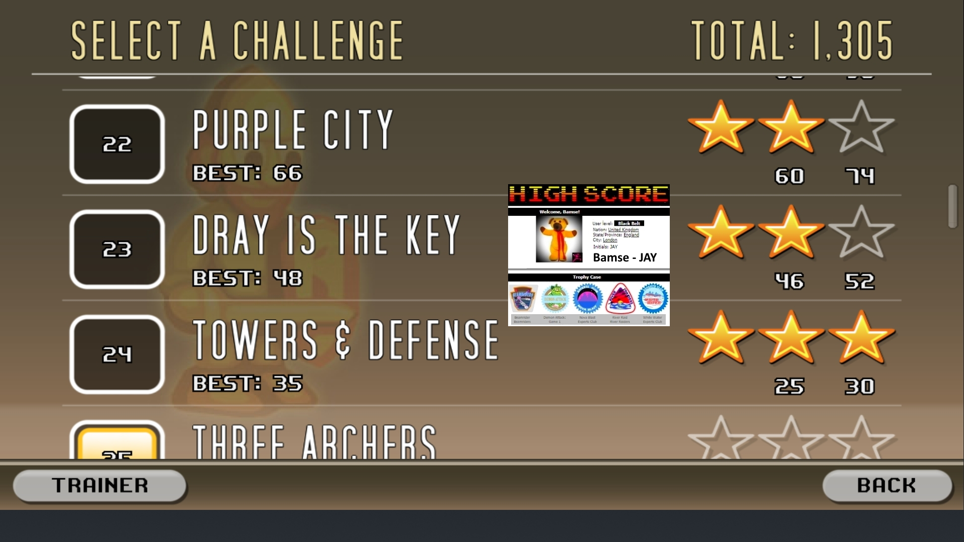 Castle Smasher: Challenges: 23 Dray Is The Key 48 points