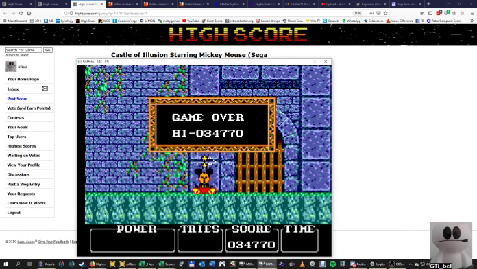Castle of Illusion Starring Mickey Mouse 34,770 points