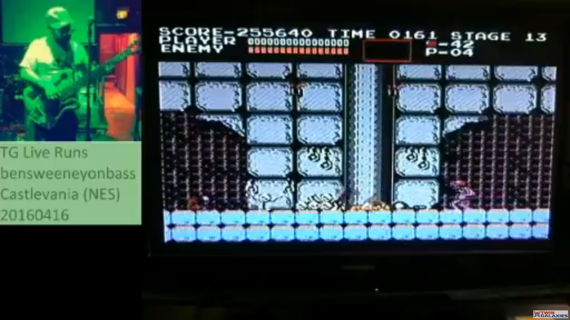 bensweeneyonbass: Castlevania (NES/Famicom) 255,640 points on 2017-03-28 23:11:45