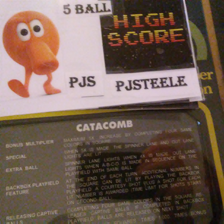 Pjsteele: Catacomb (Pinball: 5 Balls) 321,190 points on 2018-03-03 19:27:37