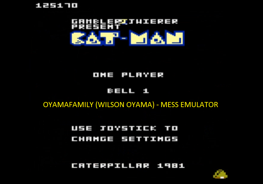 oyamafamily: Caterpiller / Cat-Man: Bell 1 Start (Atari 7800 Emulated) 125,170 points on 2016-04-11 20:24:15