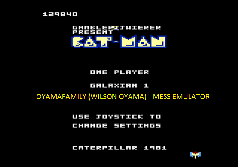 oyamafamily: Caterpiller / Cat-Man: Galaxian 1 Start (Atari 7800 Emulated) 129,840 points on 2016-04-11 20:25:35