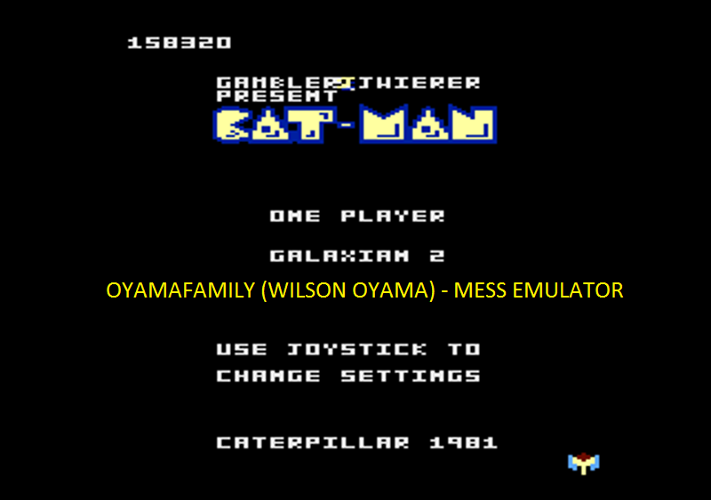 oyamafamily: Caterpiller / Cat-Man: Galaxian 2 Start (Atari 7800 Emulated) 158,320 points on 2016-04-11 20:25:47