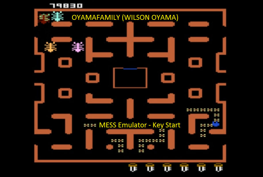 oyamafamily: Caterpiller / Cat-Man: Key Start (Atari 7800 Emulated) 79,830 points on 2016-04-11 20:23:11