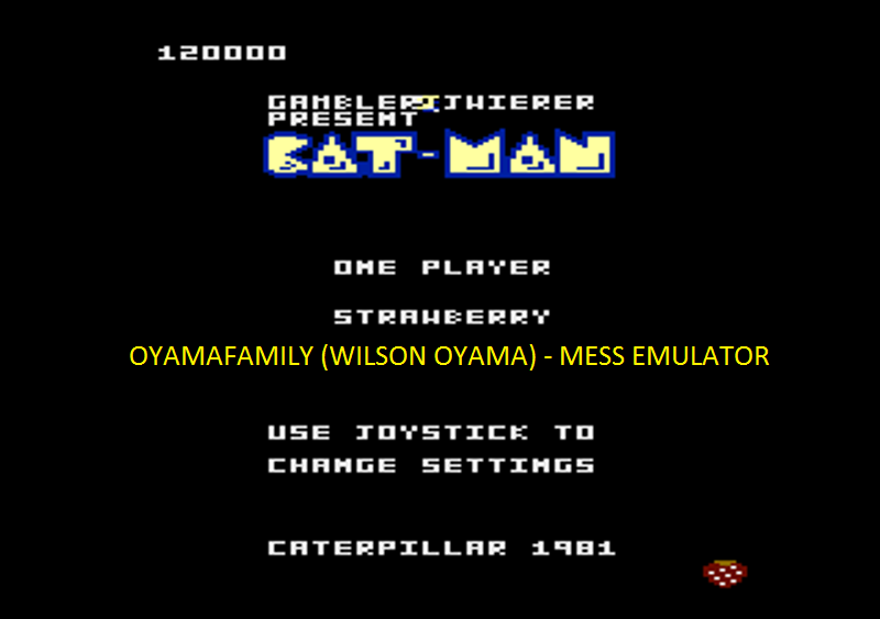 oyamafamily: Caterpiller / Cat-Man: Strawberry Start (Atari 7800 Emulated) 120,000 points on 2016-04-08 19:34:14