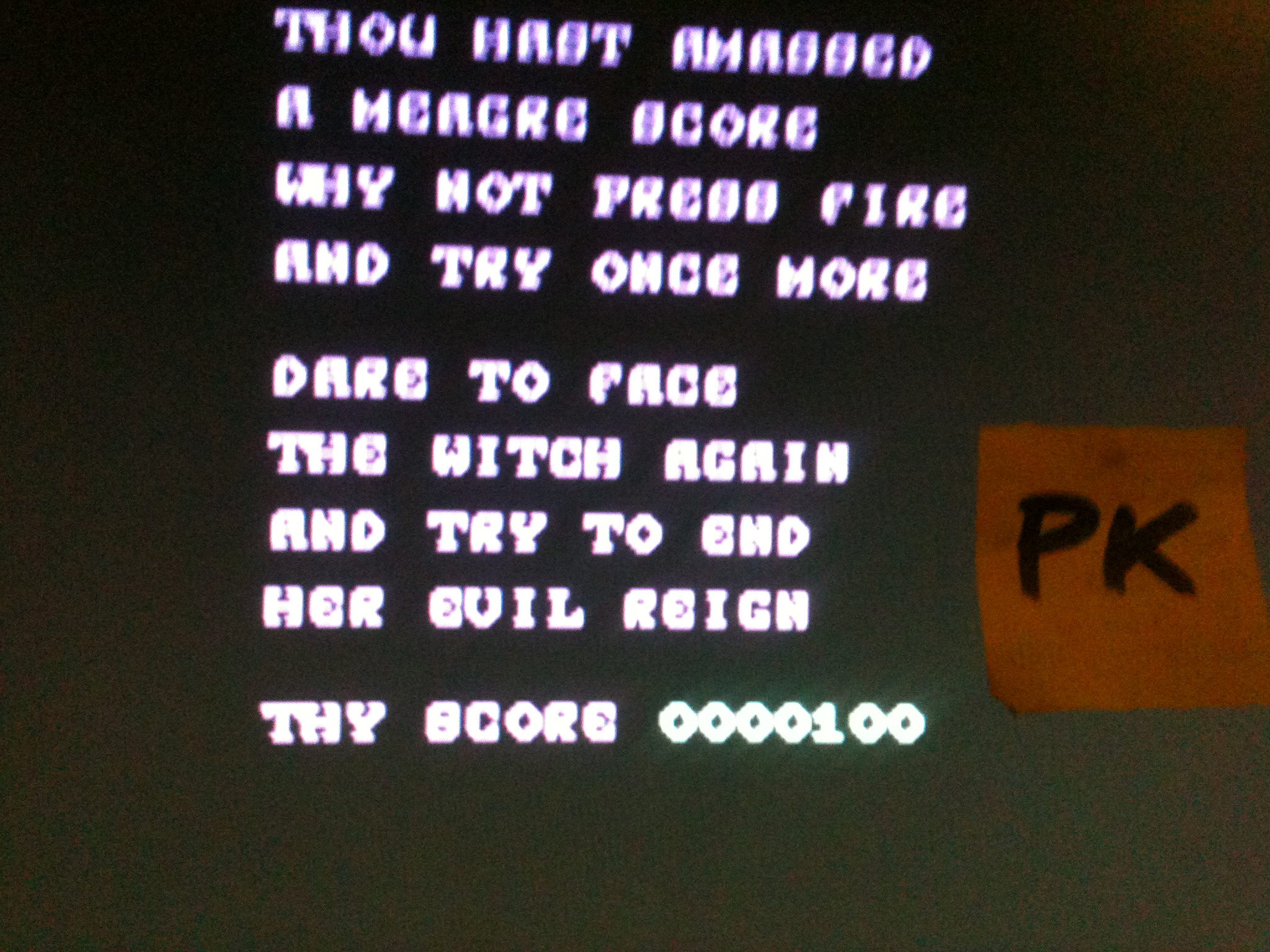 kernzy: Cauldron II (Commodore 64 Emulated) 100 points on 2015-12-19 13:58:48
