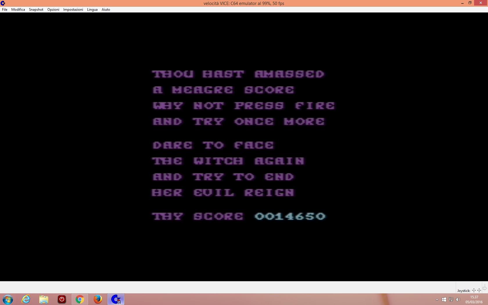 lenny2571: Cauldron II (Commodore 64 Emulated) 14,650 points on 2016-03-05 08:38:36
