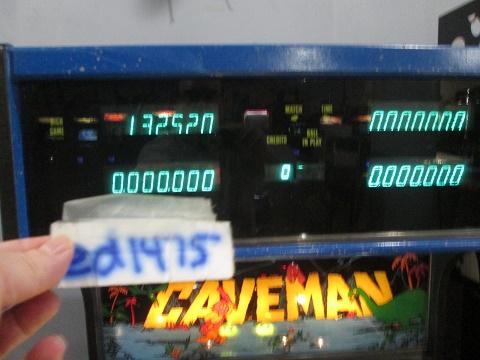 ed1475: Caveman (Pinball: 5 Balls) 132,520 points on 2019-08-04 12:26:37