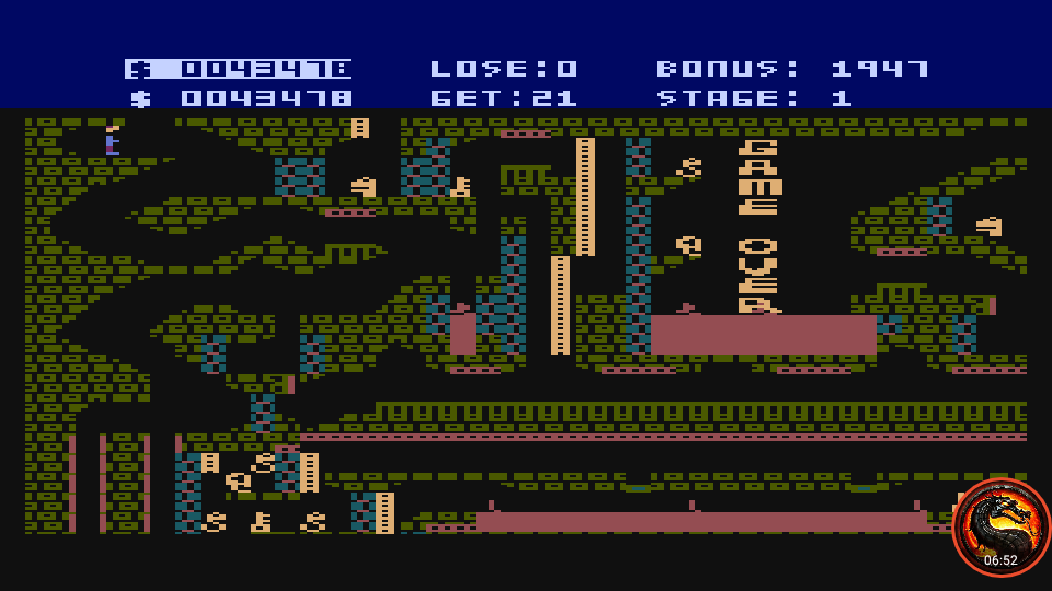 omargeddon: Caverns Of Khafka (Atari 400/800/XL/XE Emulated) 43,478 points on 2020-01-23 00:04:27