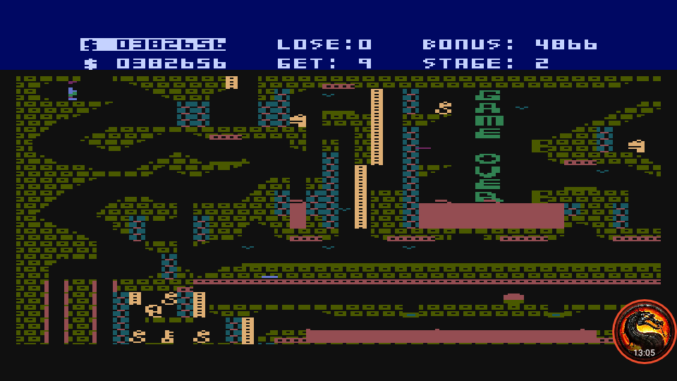omargeddon: Caverns Of Khafka (Atari 400/800/XL/XE Emulated) 382,656 points on 2020-02-26 19:36:11