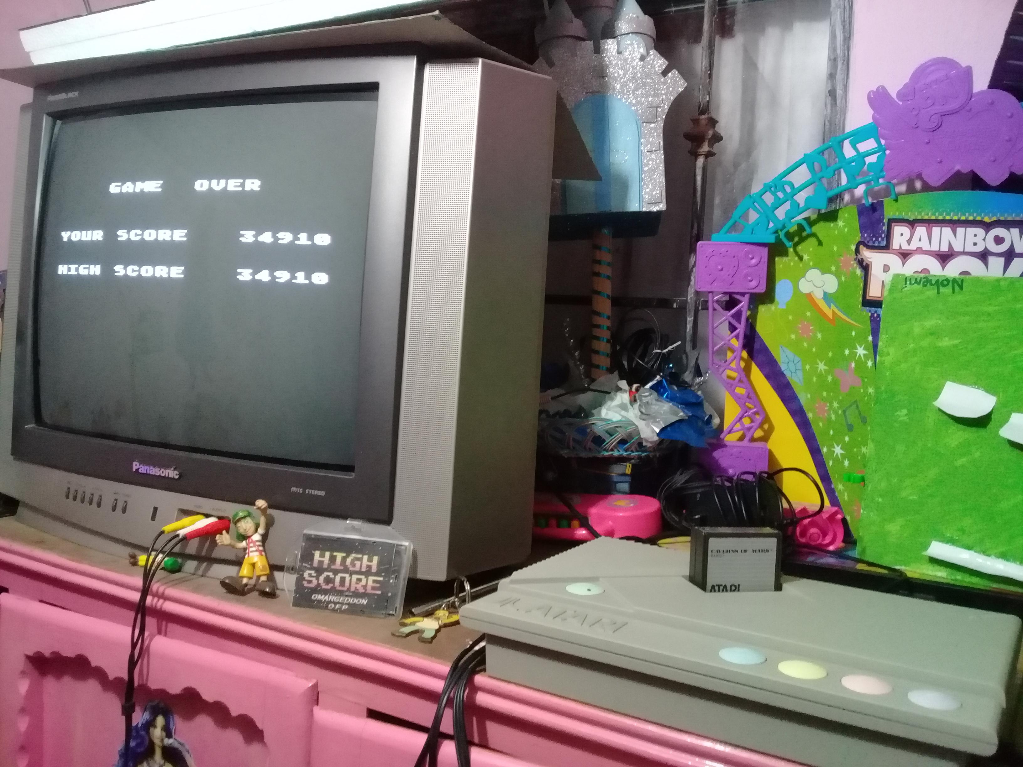 omargeddon: Caverns of Mars [Warrior] (Atari 400/800/XL/XE) 34,910 points on 2019-01-08 17:59:45
