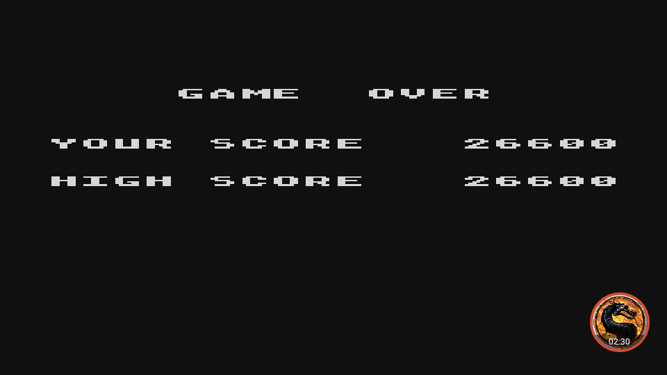 omargeddon: Caverns of Mars [Warrior] (Atari 400/800/XL/XE Emulated) 26,600 points on 2019-02-14 20:17:11