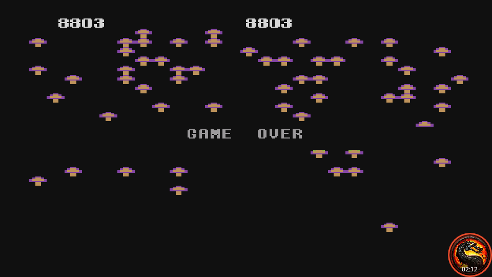 omargeddon: Centipede [5200] [Standard] (Atari 400/800/XL/XE Emulated) 8,803 points on 2020-05-24 17:26:01