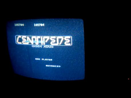 S.BAZ: Centipede: Advanced (Atari 7800) 105,784 points on 2016-02-11 01:58:16
