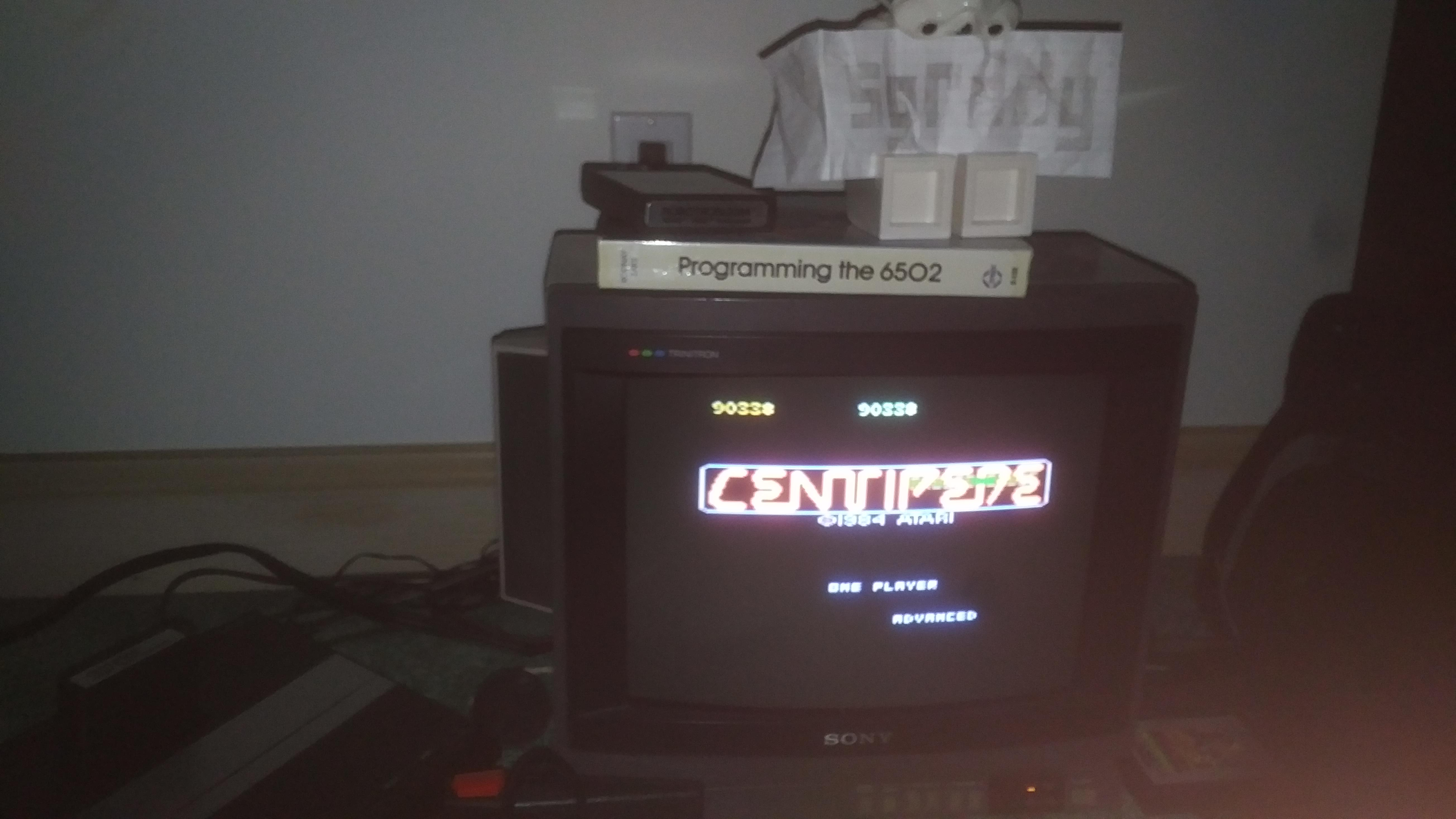 sgrddy: Centipede: Advanced (Atari 7800) 90,338 points on 2017-11-19 16:03:58