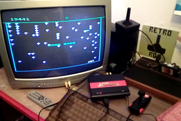 RetroRob: Centipede: Advanced (Atari Flashback 1) 19,441 points on 2020-03-03 10:44:05