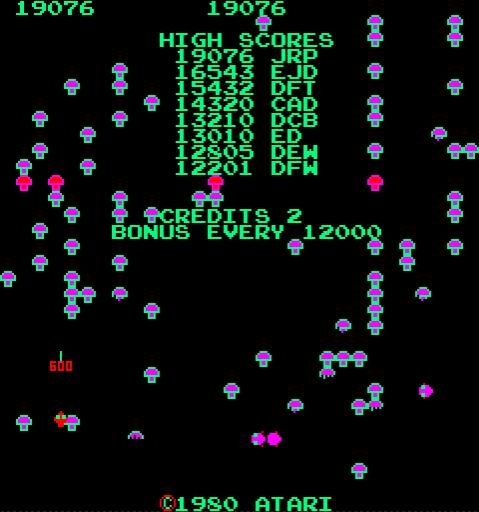 Centipede 19,076 points