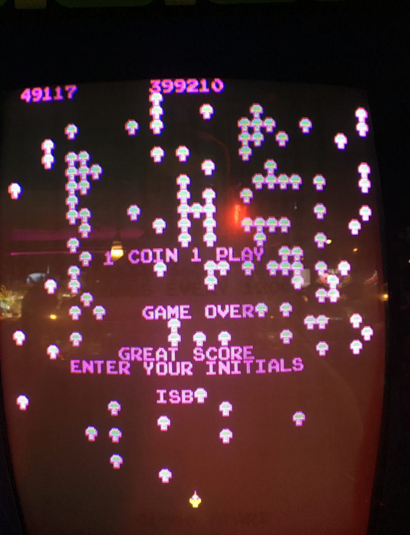 Centipede 49,117 points