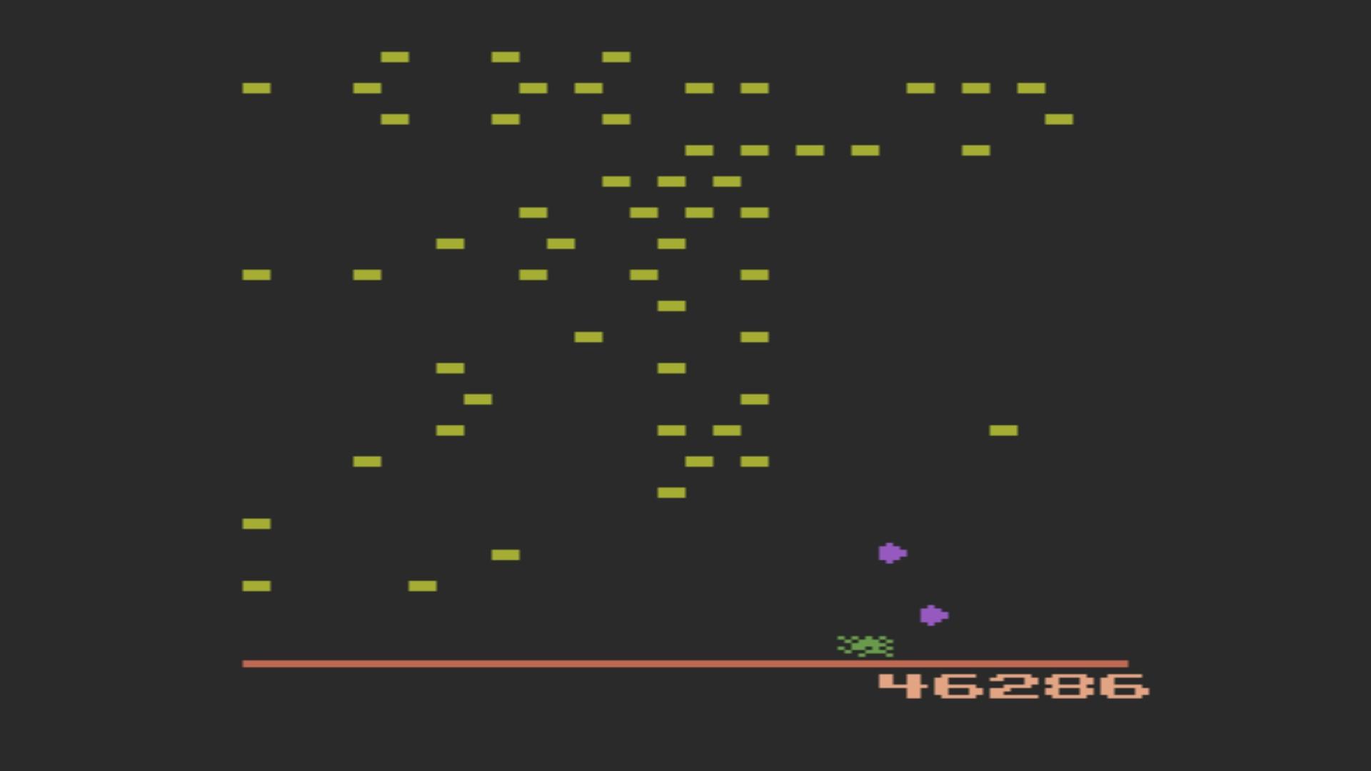 AkinNahtanoj: Centipede (Atari 2600 Emulated) 46,286 points on 2020-12-28 06:23:31