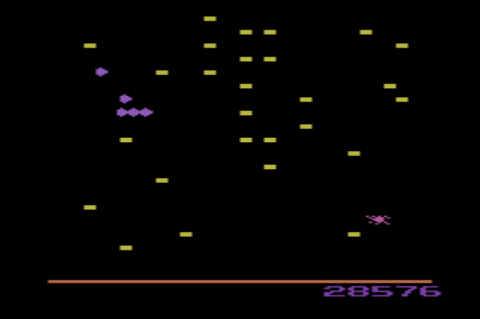 GAMES: Centipede (Atari 2600) 28,576 points on 2019-12-29 08:41:23