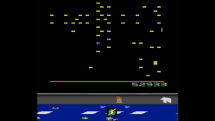 BAZ: Centipede (Atari 2600 Emulated) 52,933 points on 2020-01-21 17:11:41
