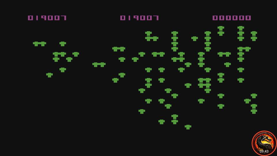 omargeddon: Centipede (Atari 400/800/XL/XE Emulated) 19,007 points on 2020-09-29 23:13:20