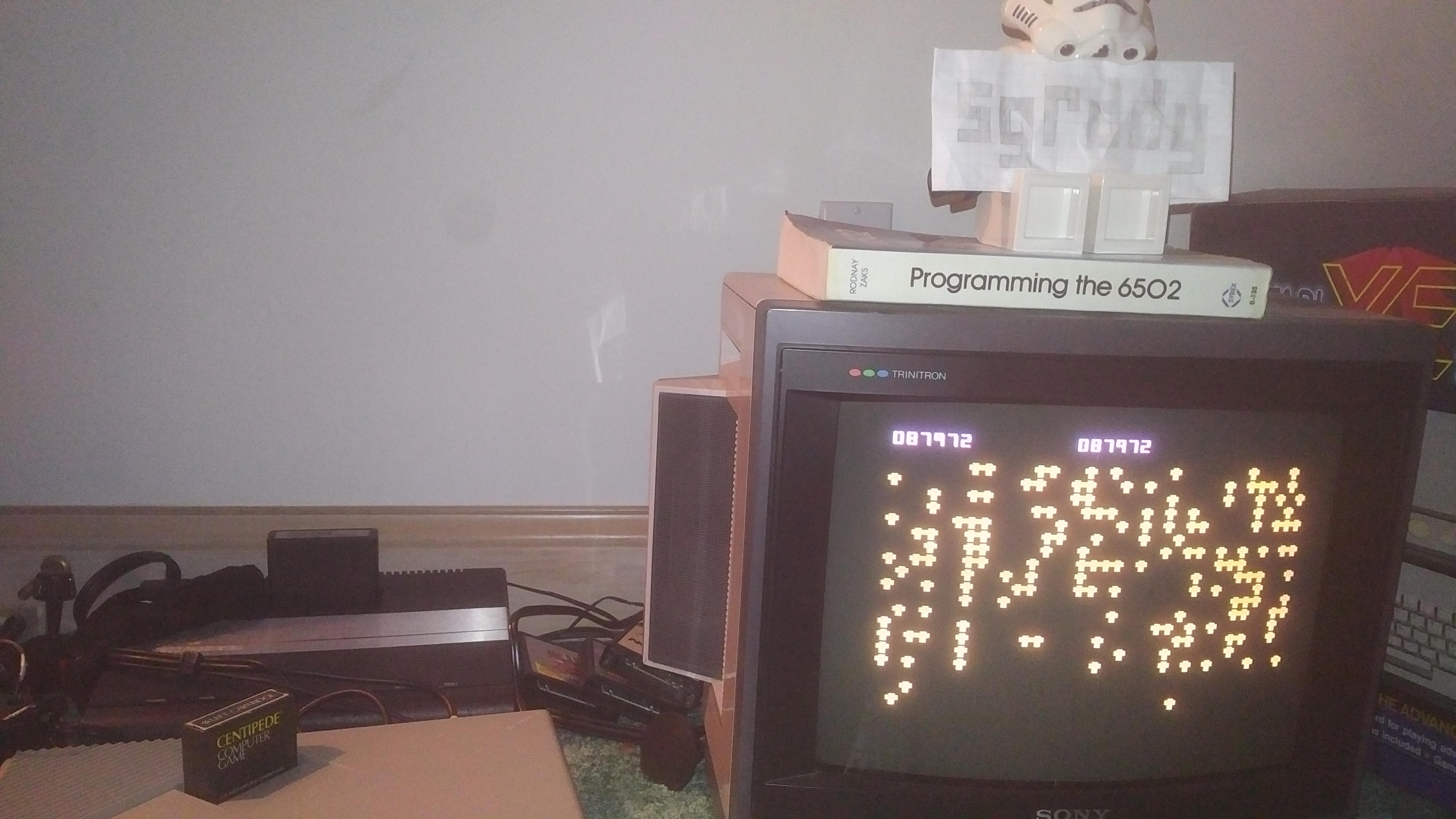 sgrddy: Centipede (Atari 400/800/XL/XE) 87,972 points on 2017-12-12 19:04:34