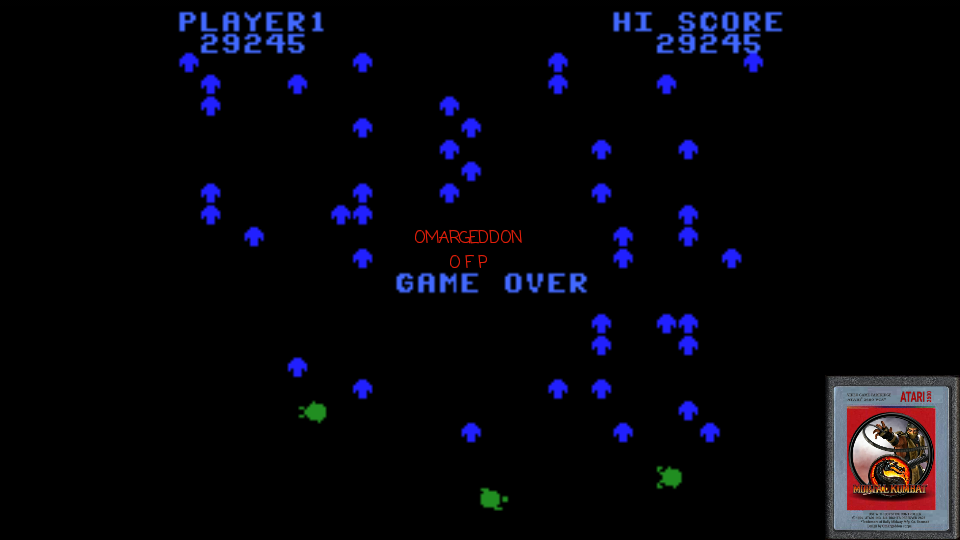 omargeddon: Centipede: Easy (Colecovision Emulated) 29,245 points on 2017-01-21 23:15:59