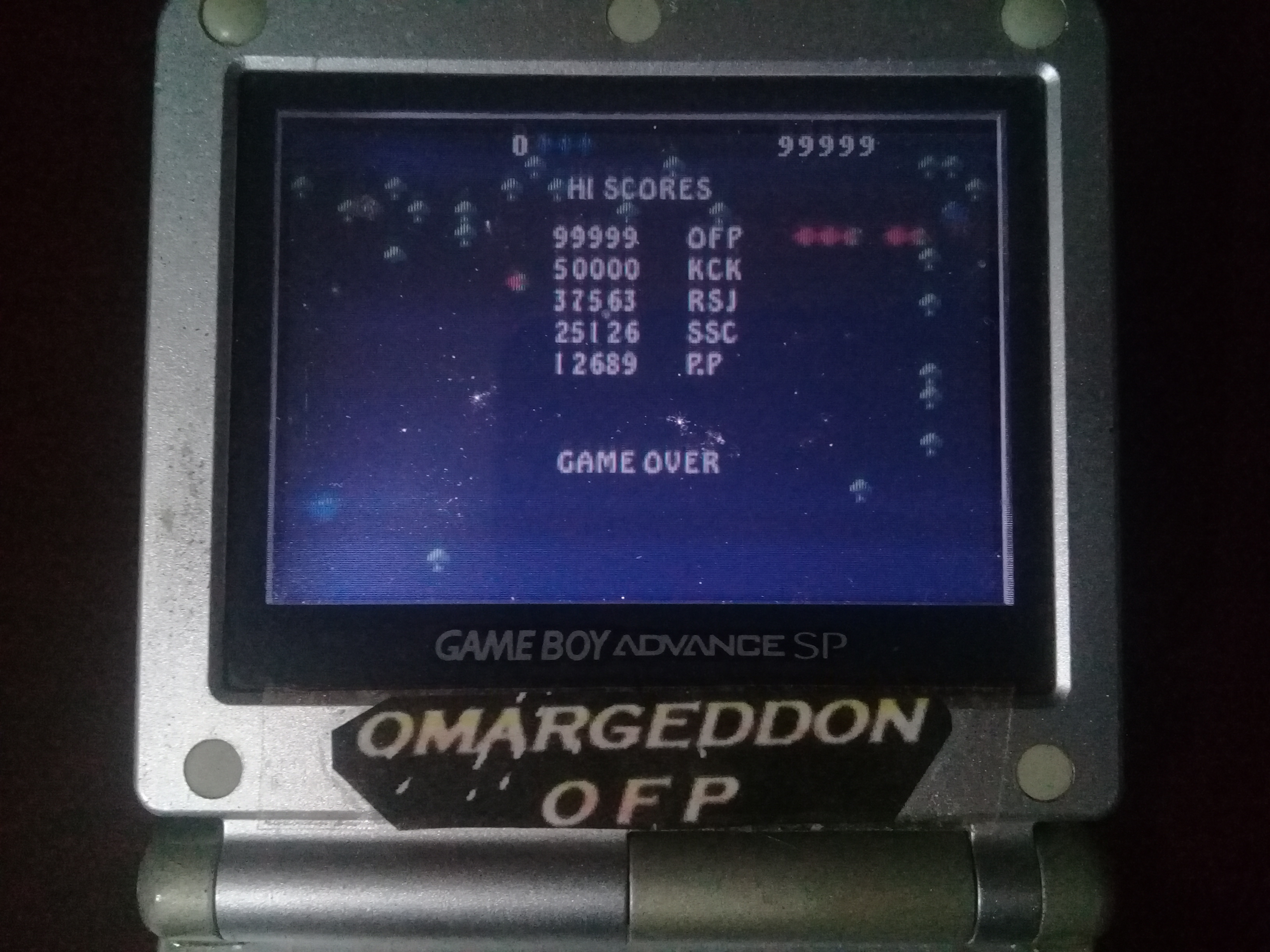 omargeddon: Centipede [Easy] (GBA) 99,999 points on 2020-04-19 00:34:59