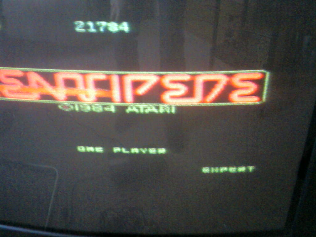 MisterVCS: Centipede: Expert (Atari 7800) 21,784 points on 2017-10-15 02:58:55