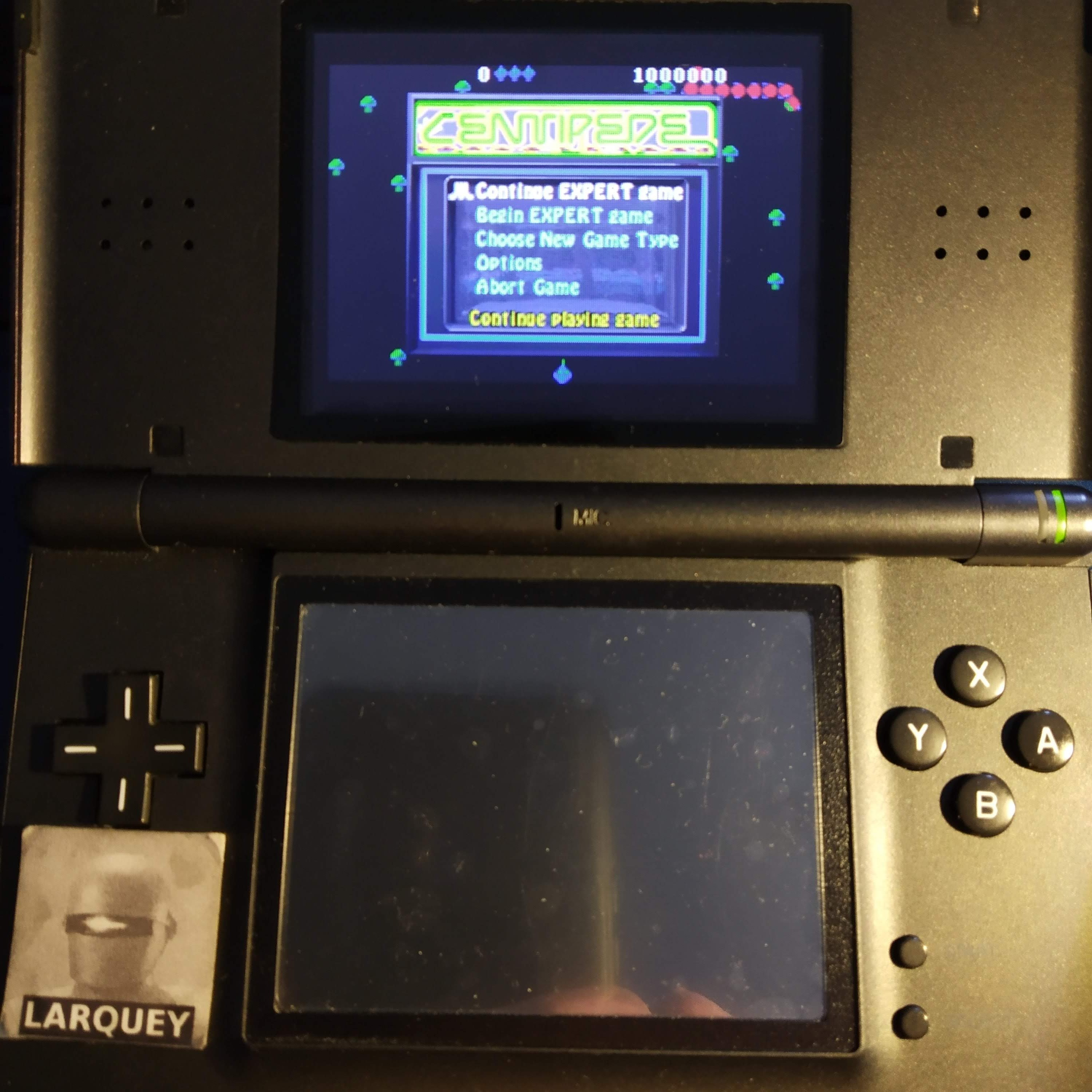 Larquey: Centipede [Expert] (GBA) 104,650 points on 2020-09-14 01:39:27