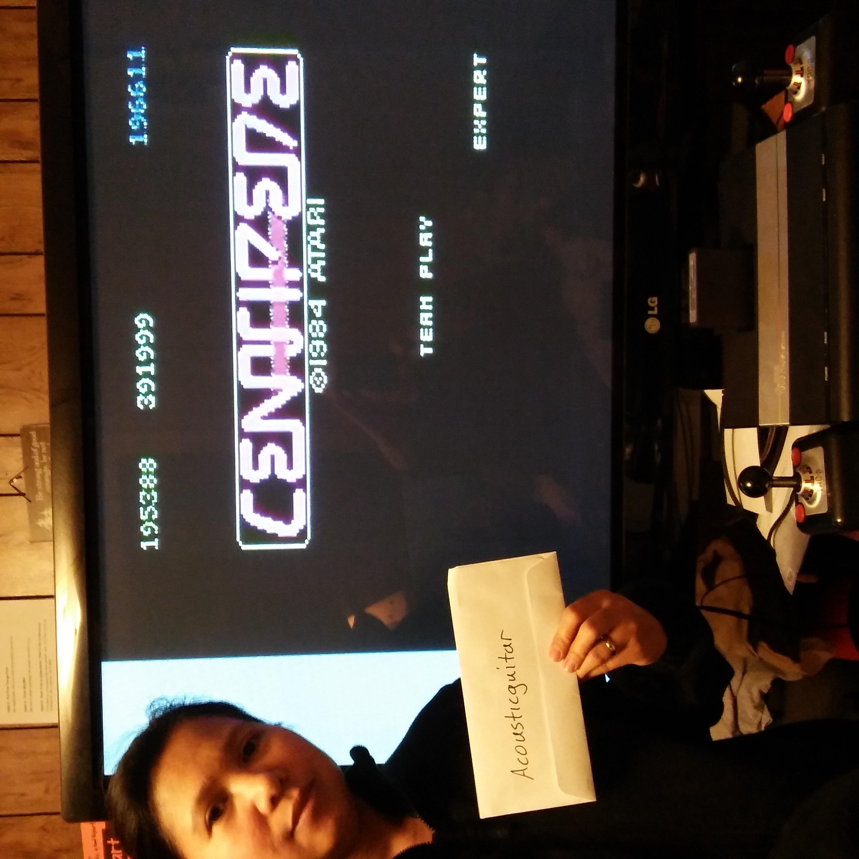 acousticguitar: Centipede [Expert] [Team Play] (Atari 7800) 391,999 points on 2017-05-30 14:16:29