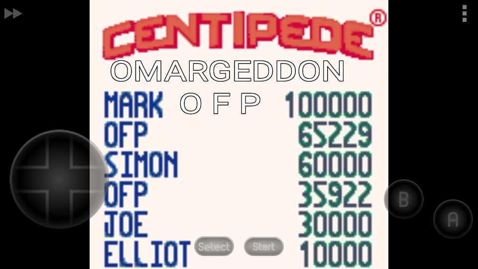 Centipede 65,229 points