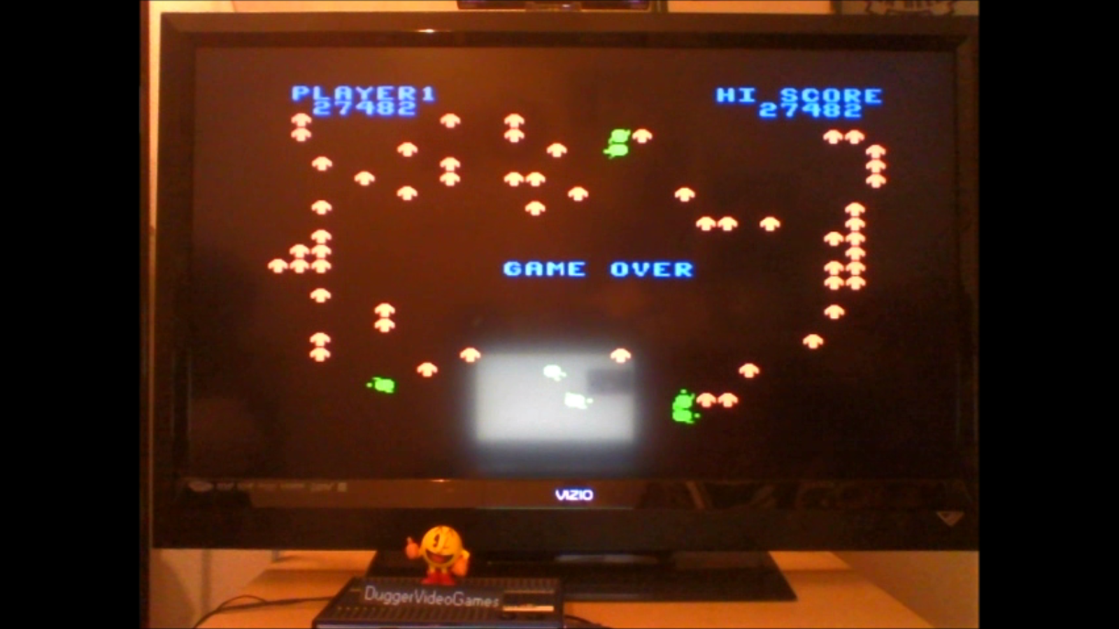 DuggerVideoGames: Centipede: Hard (Colecovision Emulated) 27,482 points on 2016-07-09 01:44:16
