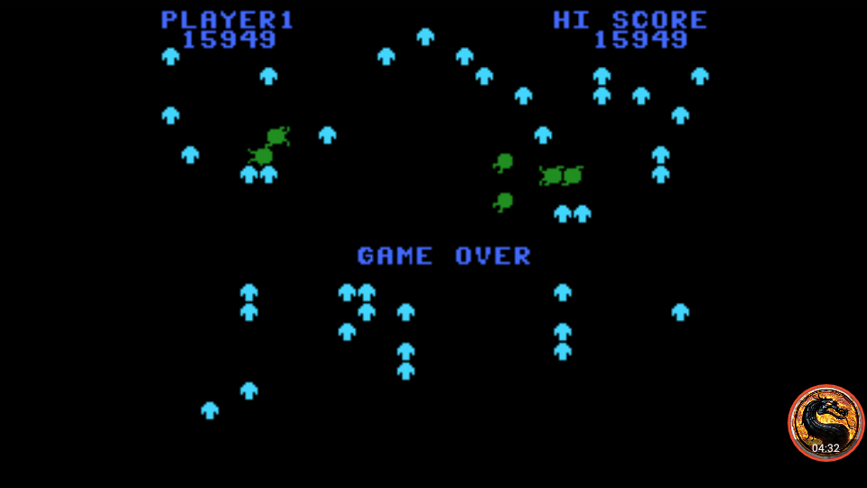 omargeddon: Centipede: Hard (Colecovision Emulated) 15,949 points on 2019-04-27 13:38:55