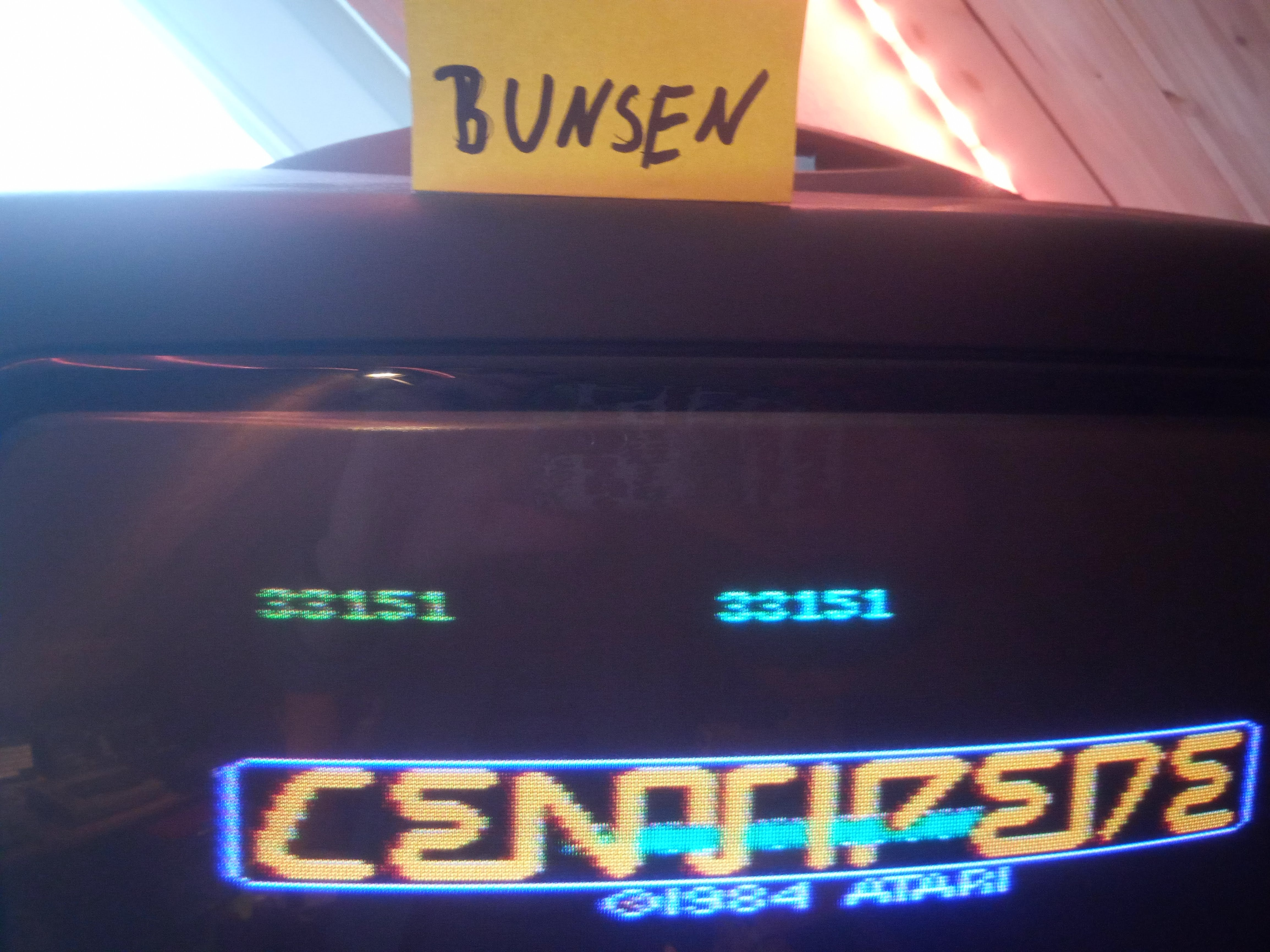 Bunsen: Centipede: Standard (Atari 7800) 33,151 points on 2020-04-29 09:42:51