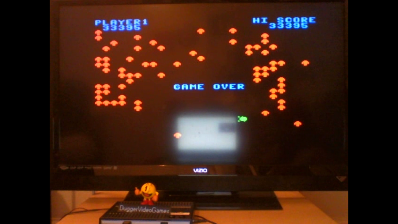 DuggerVideoGames: Centipede: Standard (Colecovision Emulated) 33,395 points on 2016-07-09 00:40:12