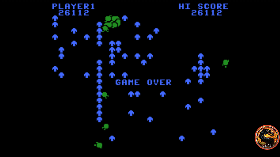 omargeddon: Centipede: Standard (Colecovision Emulated) 26,112 points on 2019-04-27 13:41:14